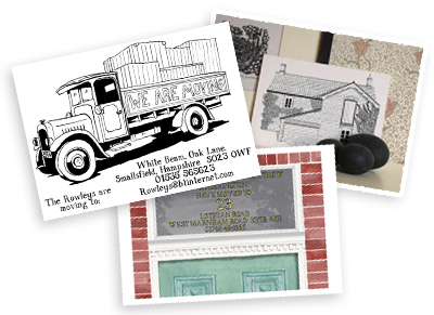 The pen and ink company illustrated change of address cards and change of address pronofoot35fo Choice Image